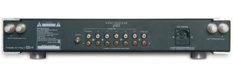 Verdi Settanta REV2.0 Integrated Amplifier hátfal