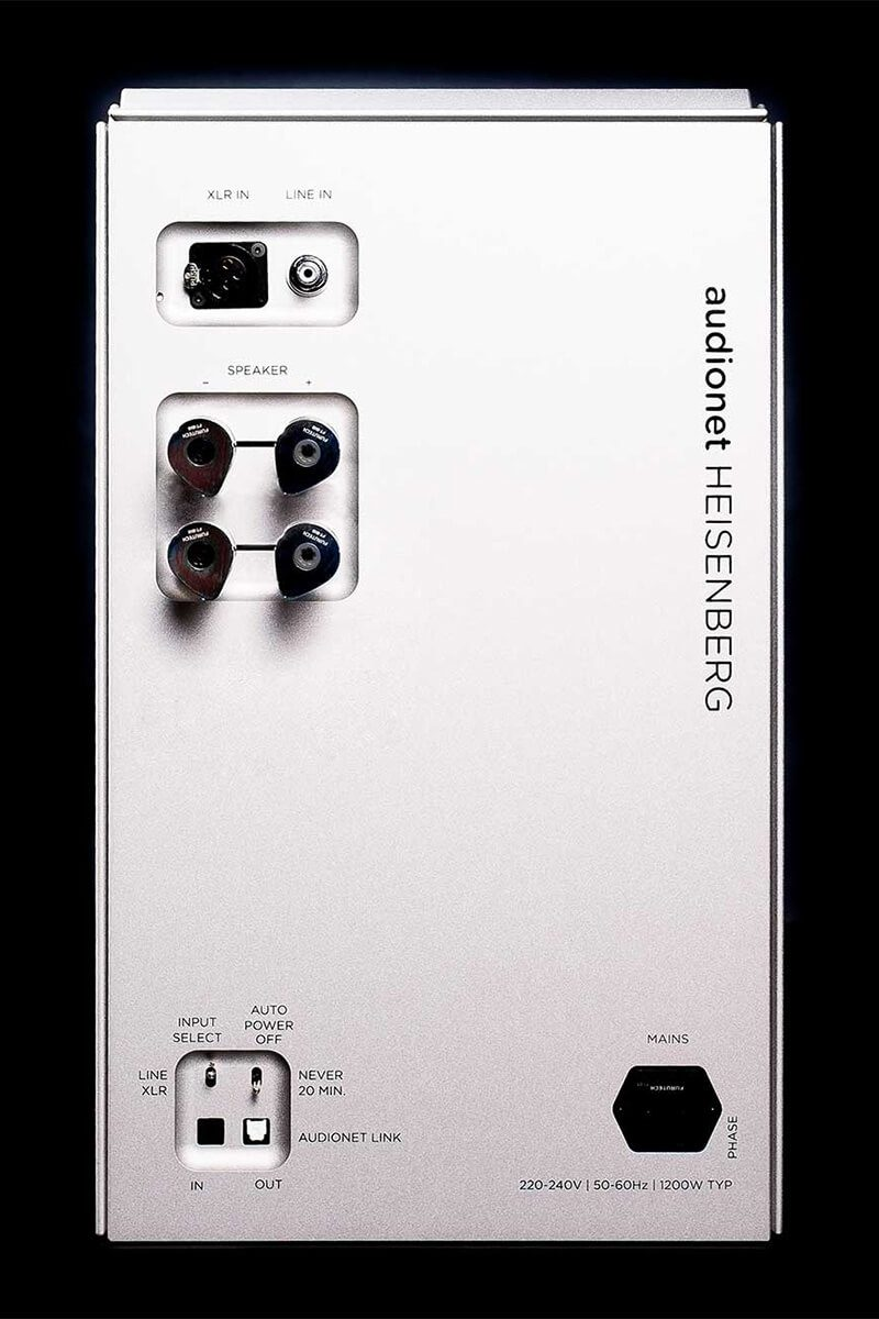 Audionet Heisenberg végerősítő hátlap