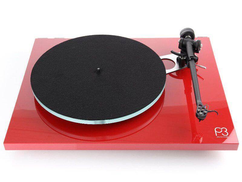 Planar 3 lemezjátszó, piros front